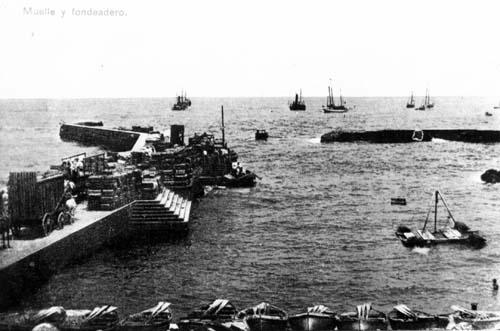 Síntesis histórica del muelle del Puerto de la Cruz