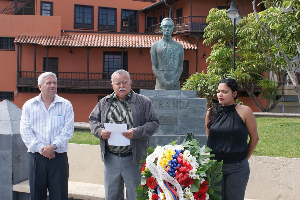 Se conmemoró el 261 aniversario del nacimiento de Francisco de Miranda