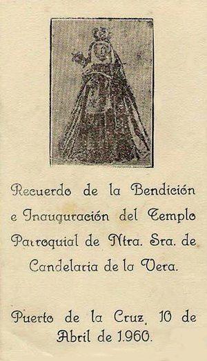 Recordatorio de_Inauguracion_de_la_Parroquia_de_La_Candelaria_en_La_Vera