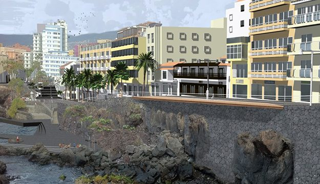 Cabildo y Ayuntamiento acuerdan mantener el proyecto original del Paseo de San Telmo con modificaciones puntuales