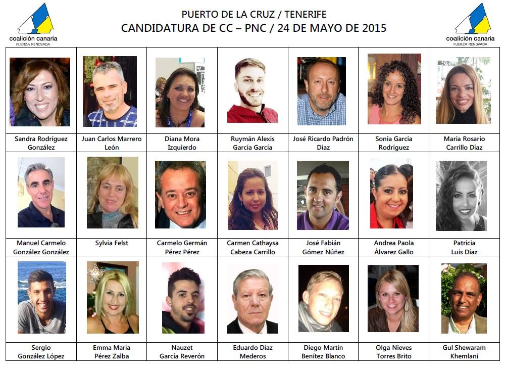 CANDIDATURA CC MUNICIPALES 2015