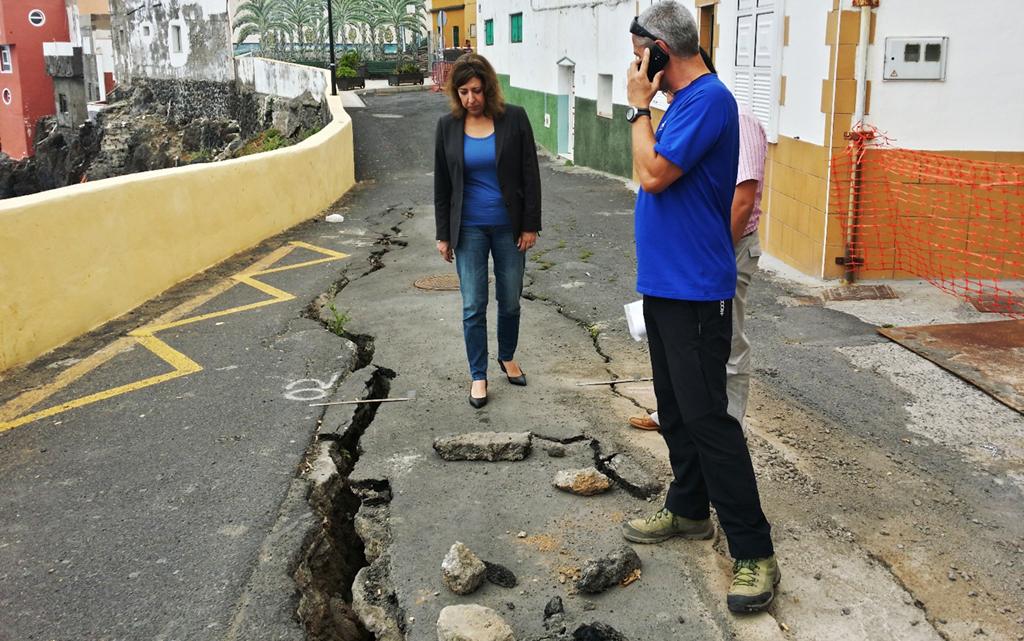 Se agrava el riesgo en la calle Tegueste de Punta Brava