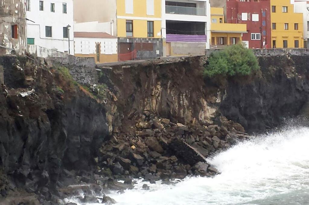 Vista del desplome sobre el mar