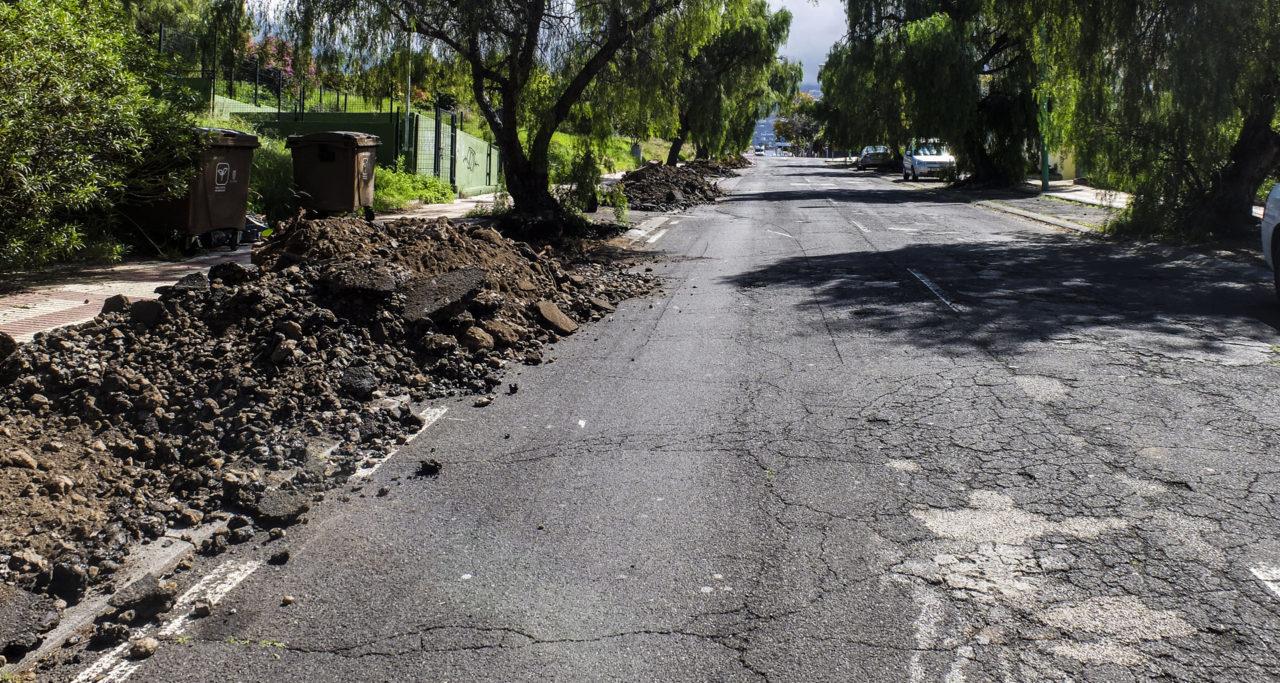 Obras de asfaltado en Puerto de la Cruz - mayo 2018