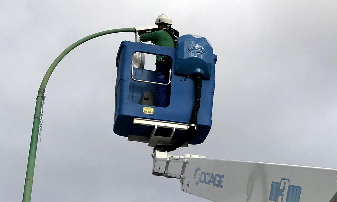Sustituicion luminarias para ahorro de energia