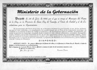 Reconocimiento a Puerto de la Cruz como ciudad