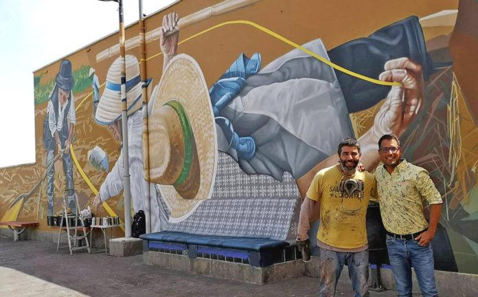 Mural homenaje a la siega Icod el Alto