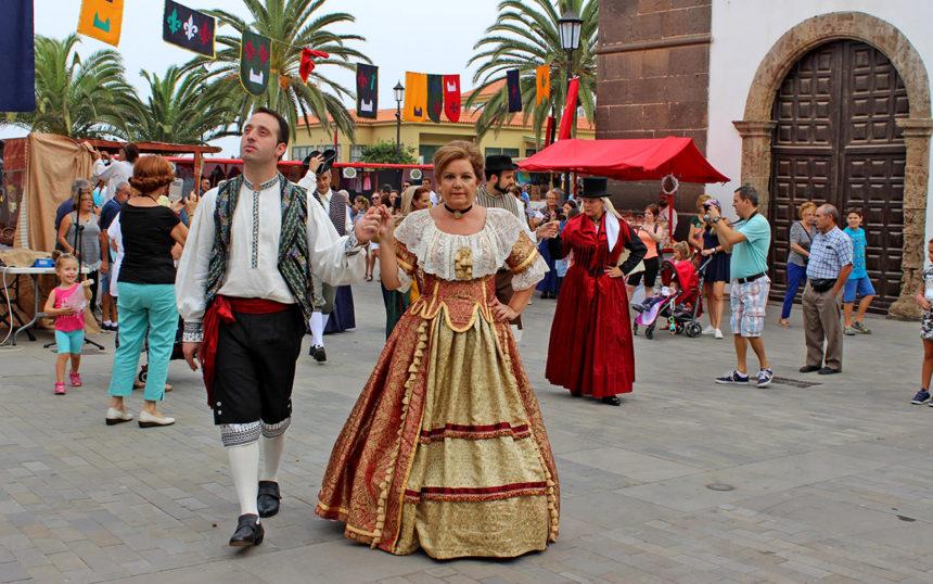 Momento de la segunda edición del Mercado Barroco de Canarias
