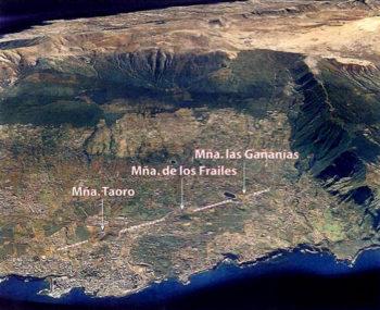 Volcanes que originaron el Puerto de la Cruz