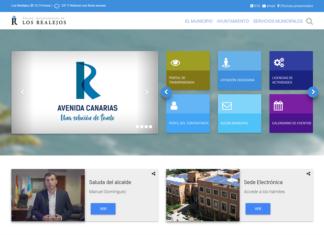 Web del Ayuntamiento de Los Realejos