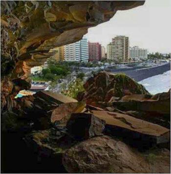 Cueva del Acantilado de Martiánez - Autor anónimo