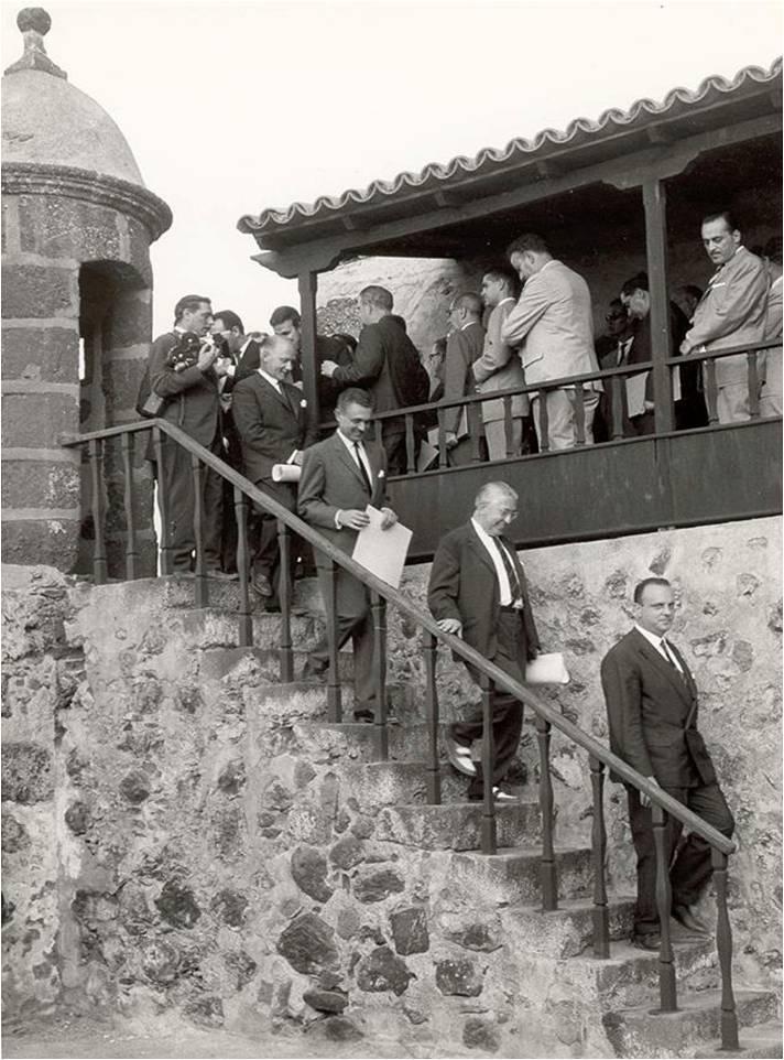 Visita de Manuel Fraga Iribarne al Castillo de San Felipe en 1964 - Autor anónimo
