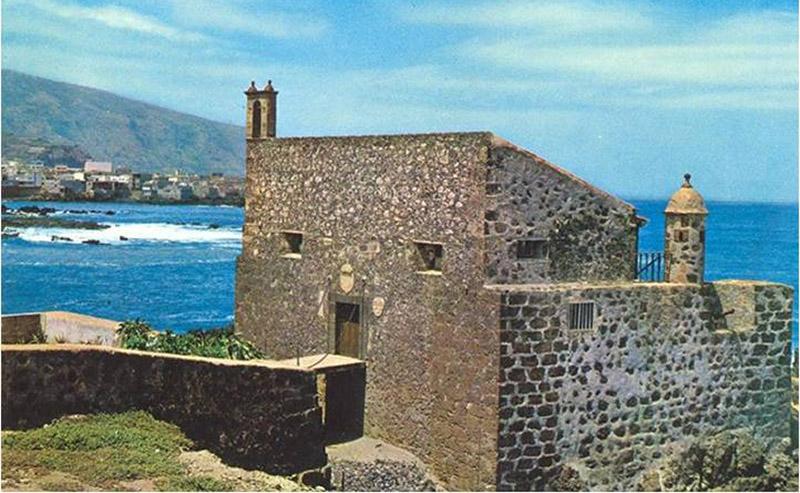 Curiosa estampa del Castillo de San Felipe con espadaña - Autor anónimo