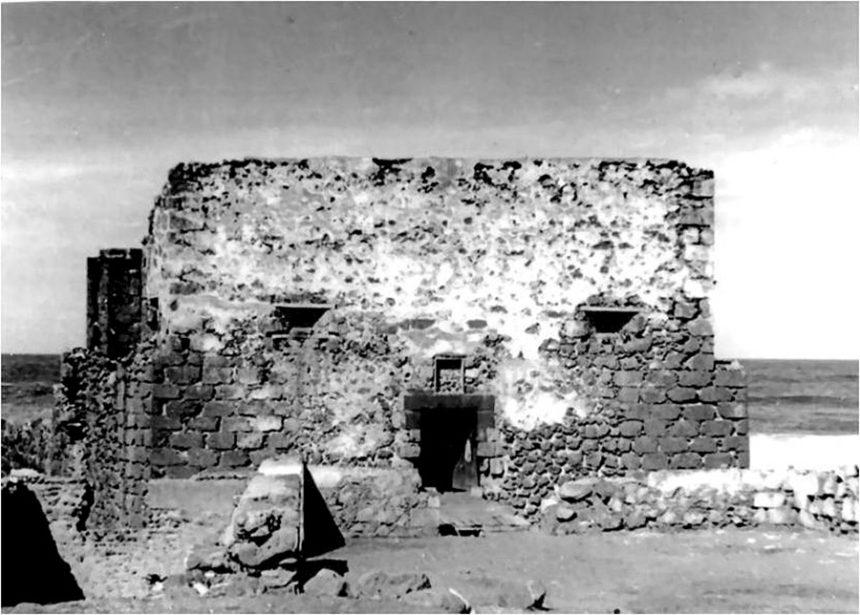 Castillo de San Felipe en estado ruinoso. Primeras décadas del siglo XX - Autor anónimo