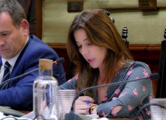 Antonia Dominguez durante el debate en el último Pleno
