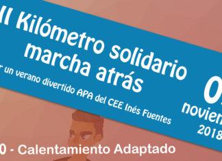 Cartel kilometro solidario