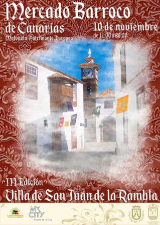 Cartel del Mercado Barroco de Canarias 2018