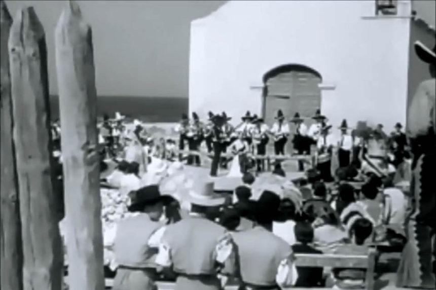 Imagen de una escena rodada en la Ermita de San Telmo