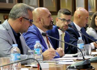 Miembros del Grupo socialista en el último pleno del 1 de octubre