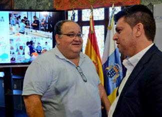 Nemesio Pérez y Antonio García Marichal durante la presentación del evento.