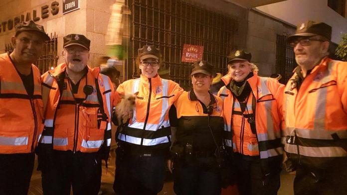 Imagen tomada durante uno de los servicios de Protección Civil