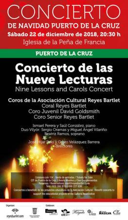 Cartel concierto Nueve Lecturas