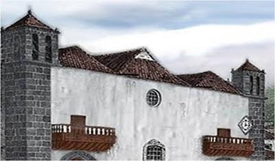 Detalle de la fachada con las torres los balconcillos la claraboya la reja y el reloj