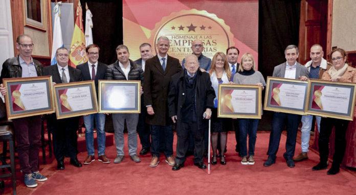 Acto de homenaje a seis empresas centenarias de La Orotava