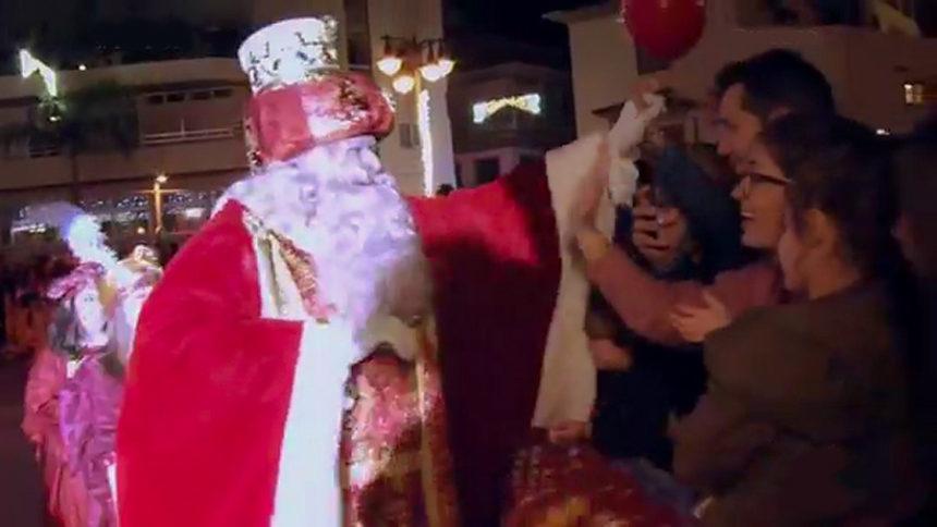 Llegada de Los Reyes Magos a la Plaza de Europa