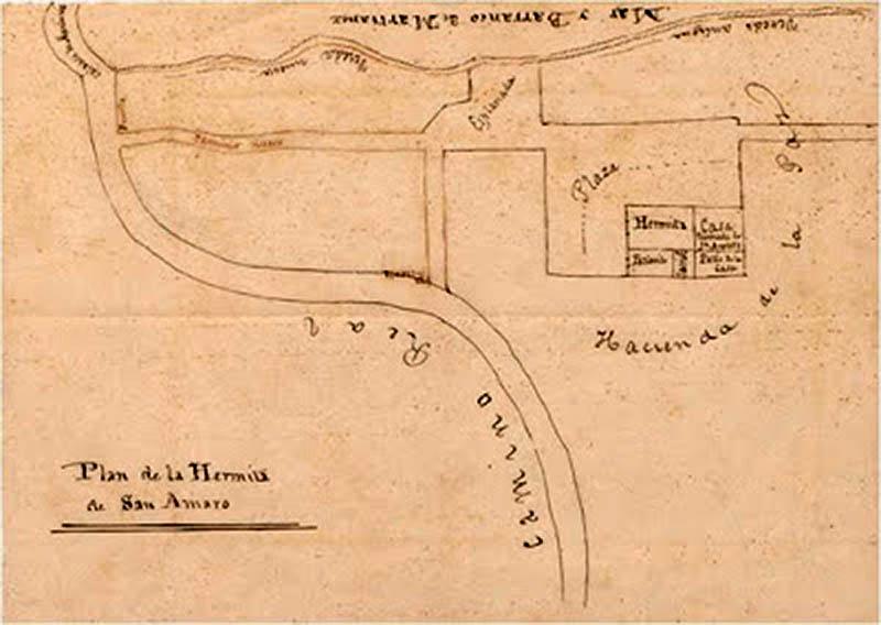 Plano de situación de la Ermita de San Amaro