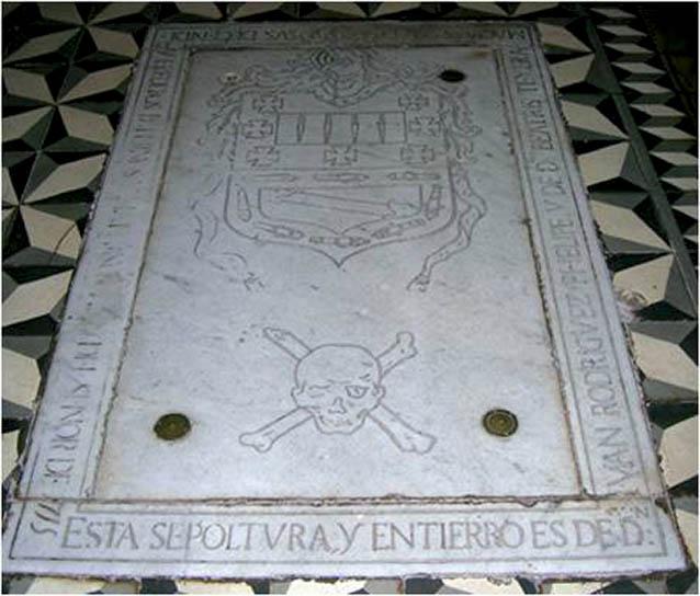 Tumba de Amaro Pargo en la iglesia de Santo Domingo de Guzmán en La Laguna