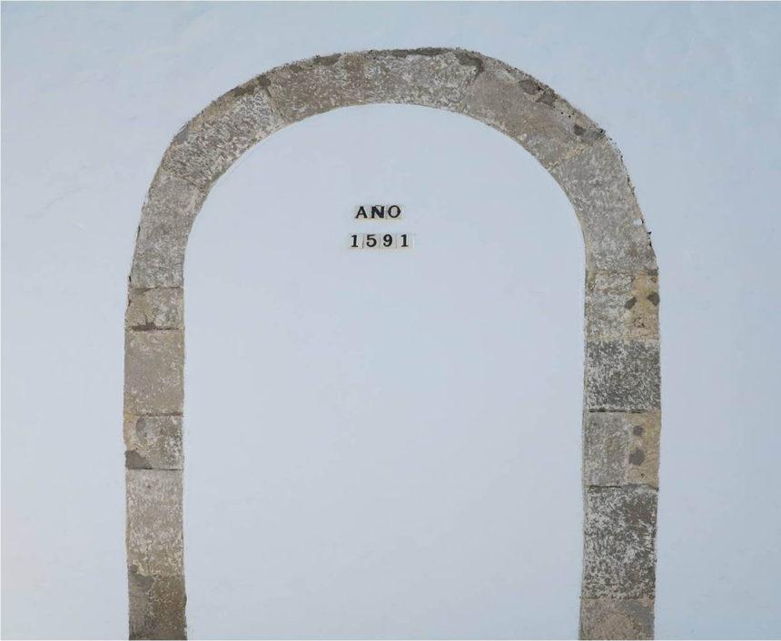 Antigua puerta de entrada de la ermita (actualmente tapiada)