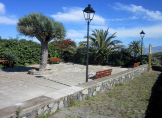 Plaza Los Rodríguez recién remodelada, punto de inicio del sendero Risco Las Pencas
