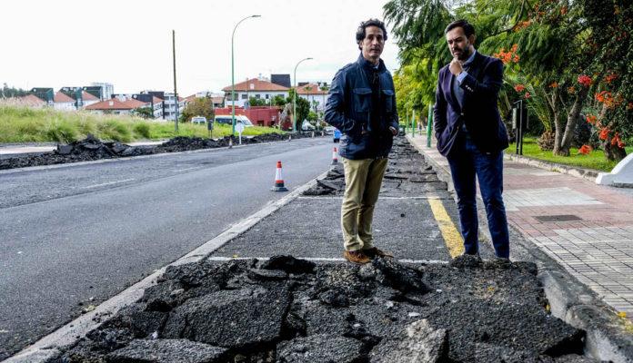 Comienzo del asfaltado de la calle Luis Rodríguez Figueroa
