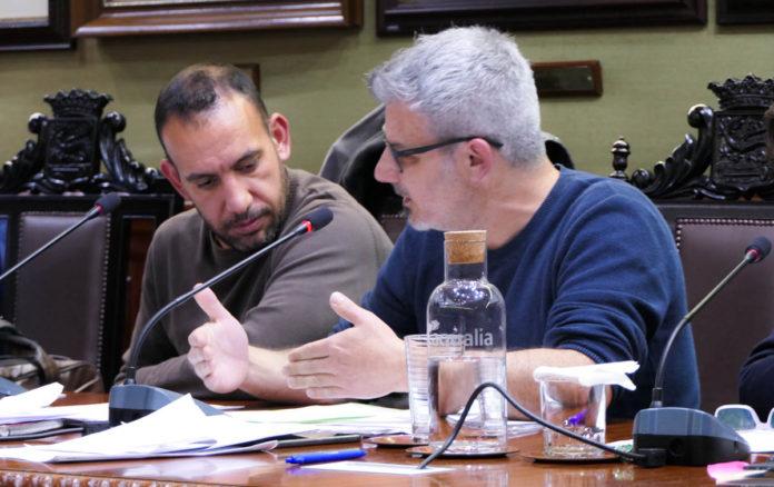 David Hernández durante el pleno de los presupuestos del presente año.