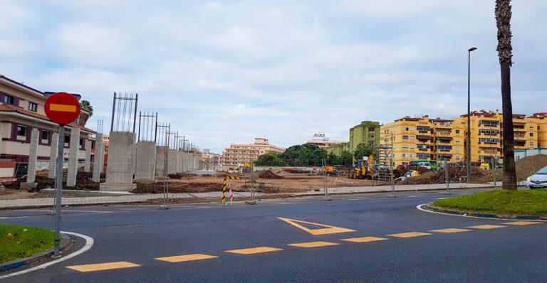 El Cabildo destaca la progresión en los trabajos de la nueva estación de guaguas