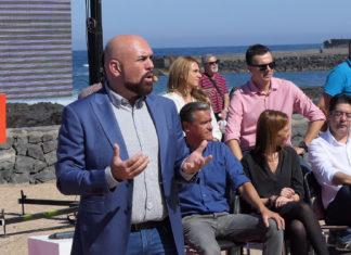 Marco González durante la presentación de su candidatura al Puerto de la Cruz