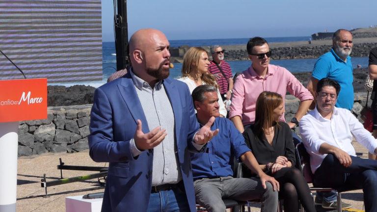 El PSOE arropó a Marco González en su candidatura a la Alcaldía del Puerto de la Cruz