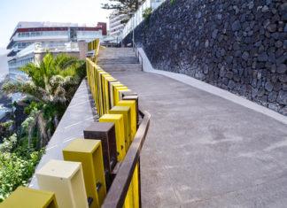 Tramo del Paseo de la Costa tras los trabajos de renovación