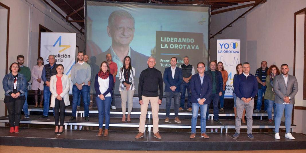 Candidatura de Coalicion Canaria en La Orotava
