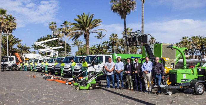 Presentacion de la nueva flota de vehículos de Jardinería
