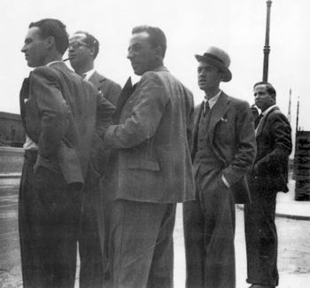 En la imagen Minik Juan Márquez lópez torres, Agustín Espinosa y Albelo