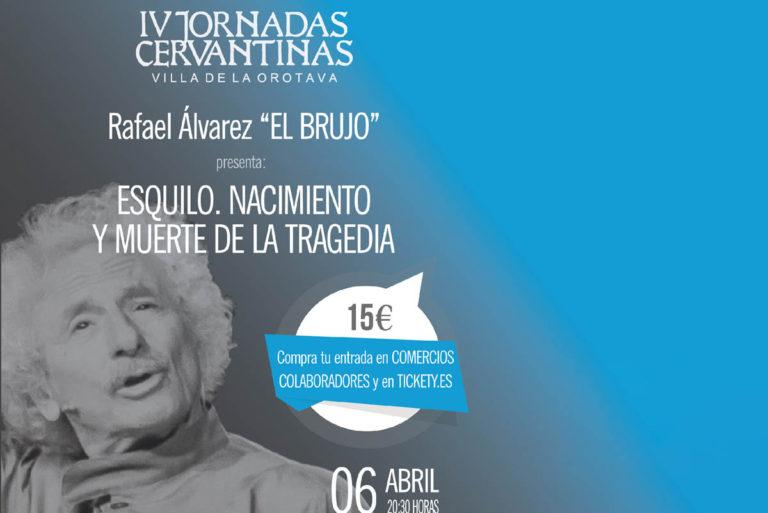 Ráfael Álvarez 'El Brujo' este sábado en La Orotava