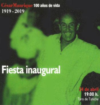 Cartel Homenaje centenario de César Manrique