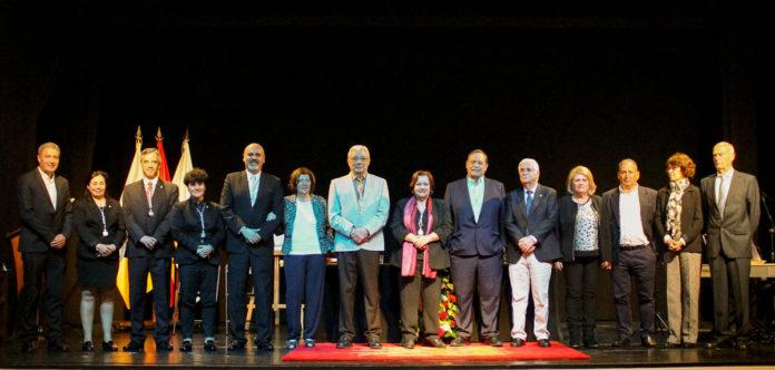 Un momento del acto del reconocimiento de José Antonio Oramas