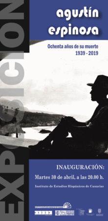 Cartel de la exposición sobre Agustín Espinosa