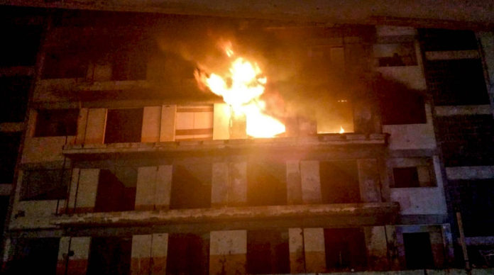 Imagenes del fuego del Edificio Iders