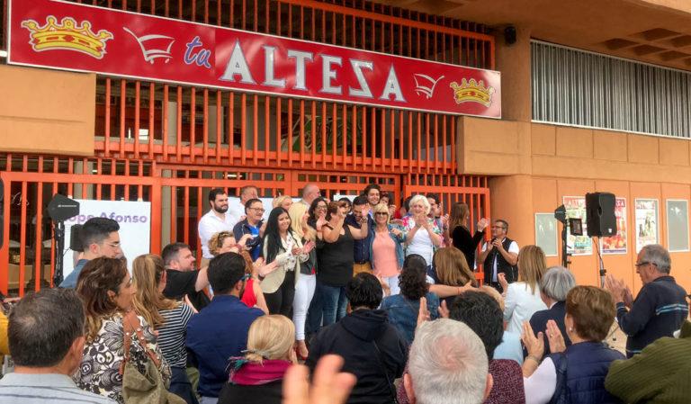 """Lope Afonso pide el voto para el PP y no optar por """"los pactos con gaseosa"""""""