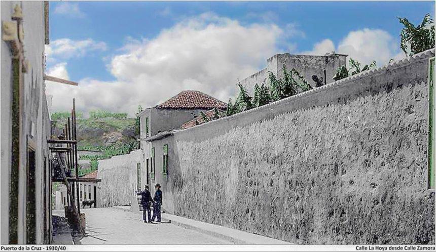 La calle de La Hoya, cerca de su cruce con Zamora (Coloreada por R. Afonso Carrillo)