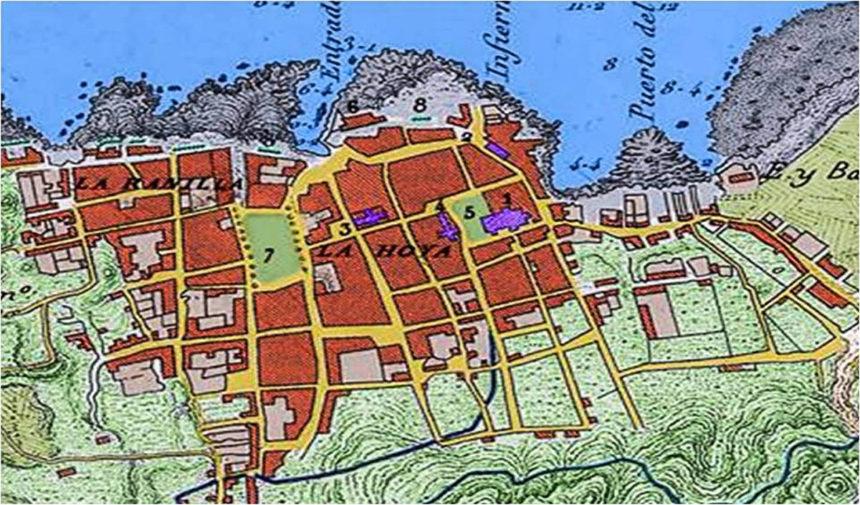Detalle del Mapa de Pascual Madoz (1849) (Coloreado por R. Afonso Carrillo)